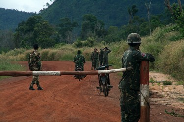 Land disputes often lead to militarization in Cambodia. Photo from Licadho.