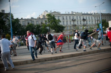 Clashes in the centre of Warsaw. Photo by Nikodem Szymański, used with permission.