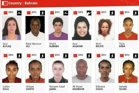 Only three of Bahrain Olympic athletes are born to Bahraini parents. Image by @Ali_Milanello on Twitter.