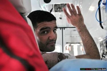 Palestinian footballer Sarsak on his way to Gaza