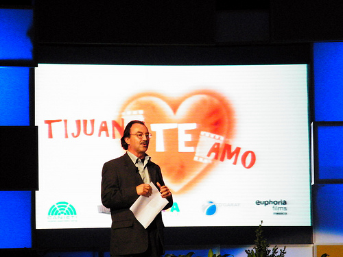 Presentation of film Tijuana, Te amo. Photo by Gabriel Flores Romero (CC BY 2.0)