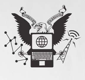 "Declaration of Internet Freedom logo. Image from <a href=""http://act.freepress.net/sign/internetdeclaration?source=website_dif_home"">Free Press website</a>, used with permission."
