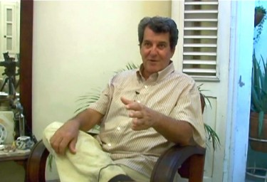 Oswaldo Paya, at his home. Screenshot from video by Tracey Eaton, taken with photographer's permission.