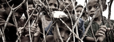 Rohingya refugees waiting to be registered in Bangladesh. Image by Rajibul Islam, copyright Demotix (07/07/09).