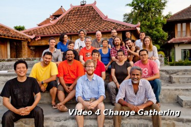 Participants of the Video For Change gathering