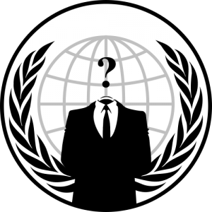 Anonymous emblem. The image has been released into the public domain by its author, Anonymous.