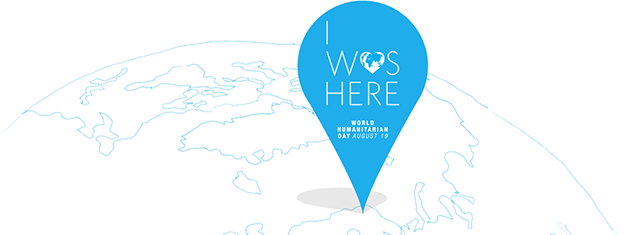 I Was Here logo for the UN World Humanitarian Day Campaign 2012