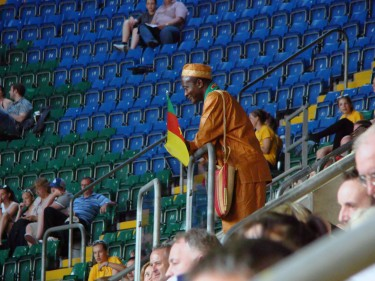 A Cameroonian fan at the London 2012 Olympics. Image by joncandy (CC BY-SA 2.0).