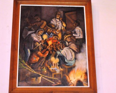Painting of a circumcision in Madagascar by Arianiana (used with permission)