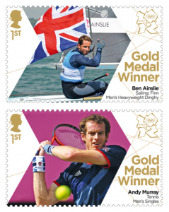 Royal Mail Olympics stamps.