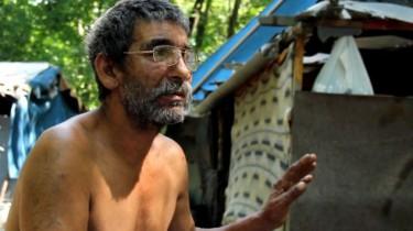 Albert Jónás, a shantytown resident. Photo by Atlatszo.hu.