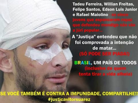Banner in support of Vitor Suarez, by Rede Esgoto de Televisão on Facebook