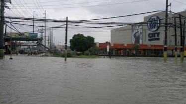 Flood in Bacoor, Cavite located south of Manila. Photo from Facebook page of ASAP XV.