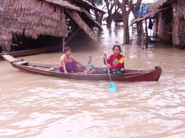 Myanmar's worst flooding in a decade. Photo by Nay Myo Zin, via Facebook.