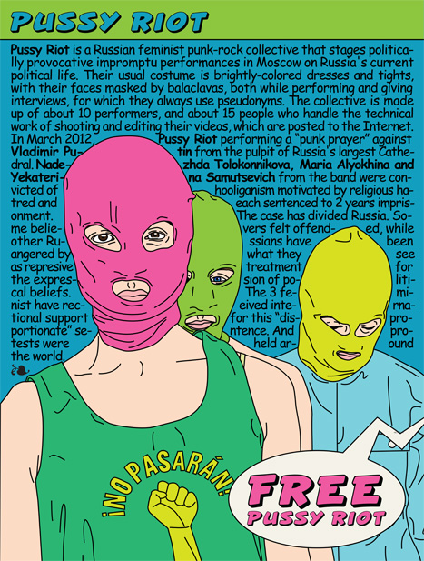 Russian feminist punk band Pussy Riot, by María María Acha-Kutscher (CC BY-NC-ND 3.0)