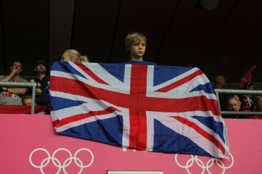 A young Team GB fan shows his support. Image by David Mbiyu, copyright Demotix (31/07/2012).
