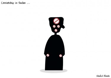 New Khartoon: Khalid Albaih shares this cartoon on censorship in Sudan on his Facebook page (17/09/12).