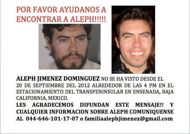 Image of Aleph Jiménez posted on the family's Facebook page