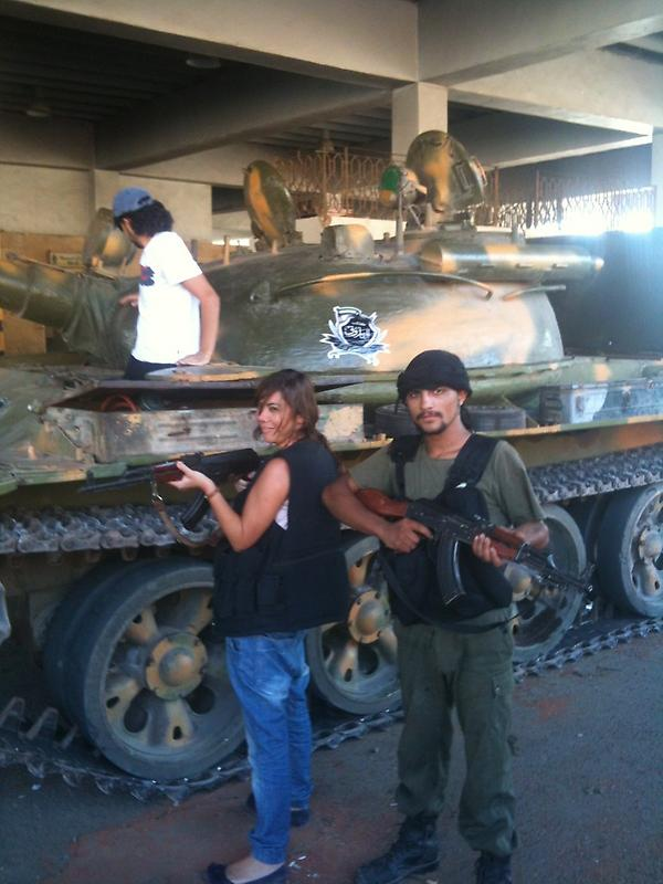 Emma Sulieman with the Free Syrian Army