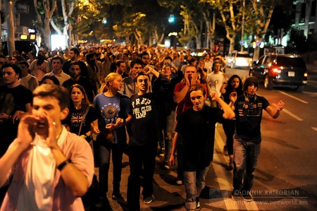 Gldani Prison Abuse Protest, Tbilisi, Georgia © Onnik Krikorian 2012