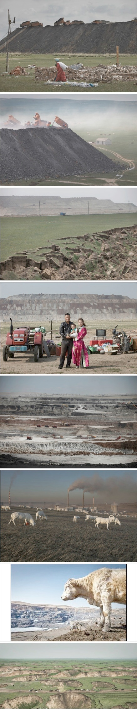 Hulunbuir Grassland destroyed by coal mining activities. Baoyi's Weibo Photos.
