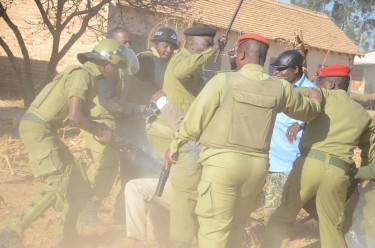Police brutality in Tanzania. Photo source: wavuti.com, used with permission.