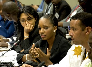 Delegates from Madagascar and Mali at the Young African Leaders Forum Hosted by Obama. Image taken by author.