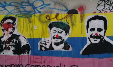 Graffiti of FARC leaders