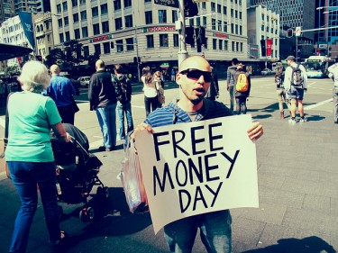 Free Money Day by @Donmacca on Flickr (CC-BY)
