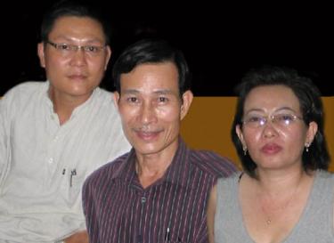 Осудените виетнамски блогери блогери Диеу Цај, AnhBaSG и Та Фонг Тан.