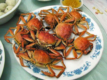 Cooked Chinese mitten crab. Flickr/ autan (CC BY-NC-ND 2.0).