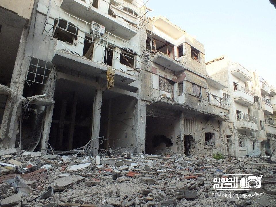 Homs: Assedio di 14 isolati della città per 139 giorni