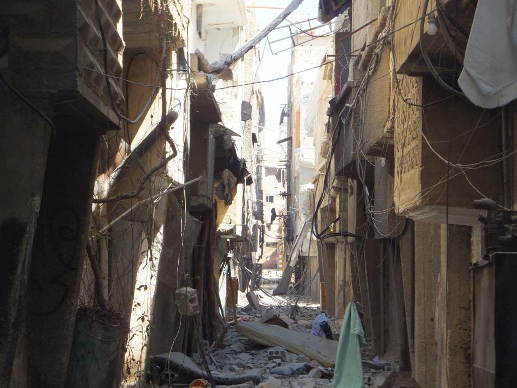 Siria - Damasco - Quartiere di Tadamon - 7 settembre 2012 - Distruzione del quartiere seguita al bombardamento da parte delle forze di Assad