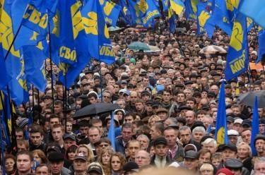 Migliaia si riuniscono a Kiev per il  settantesimo anniversario dell'Esercito Insurrezionale Ucraino