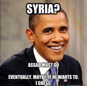 Obama's position on Syria?