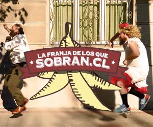 'La franja de los que sobran'. Image shared by @TECHOChile via Twitpic