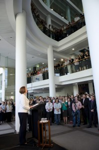 Julia Gillard thanks DFAT staff