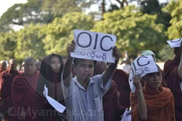 Protest against OIC