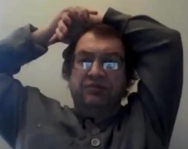 Sergej Mawrodi. Screenshot aus einem seiner YouTube-Videos, 11. Oktober 2012.