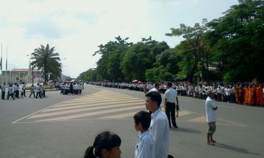 Cambodians were mourning the late King Sihanouk
