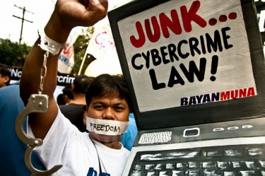 Manifestation contre la Loi sur la Cybercriminalité