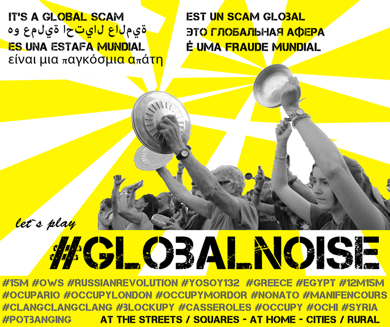 Click the image to see a collection of #GlobalNoise designs