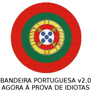 """Portuguese flag version 2.0 Now idiot proof"". Image by Johny Jambalaya on Facebook (used with permission)"
