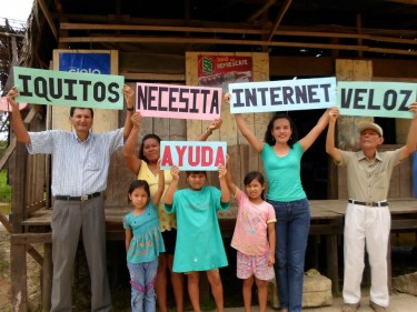 """Iquitos needs fast Internet...HELP!"" Photo shared by Patricia Vela on Facebook."