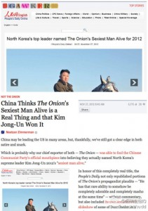 People's daily ridicolizzato da The Onion