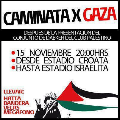 Call to protest in favor of Gaza, shared via social networks.