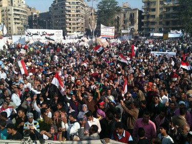 Thousands of Egyptians at Tahrir Square today