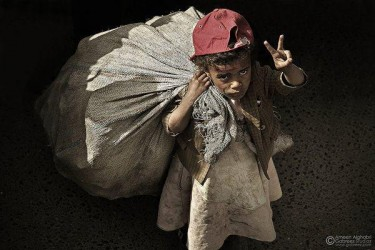 A girl child worker from Yemen