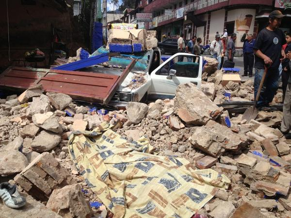 San Marcos, Guatemala after earthquake