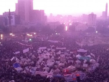 Thousands protesting at Tahrir Square in Cairo now